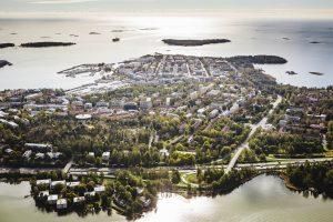 Saaren LKV – ilmakuva Lauttasaaresta